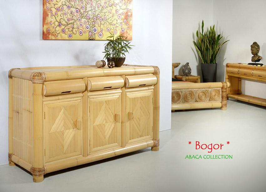 Bambus kommode bogor sideboard bambusm bel bambusschrank for Sideboard orientalisch