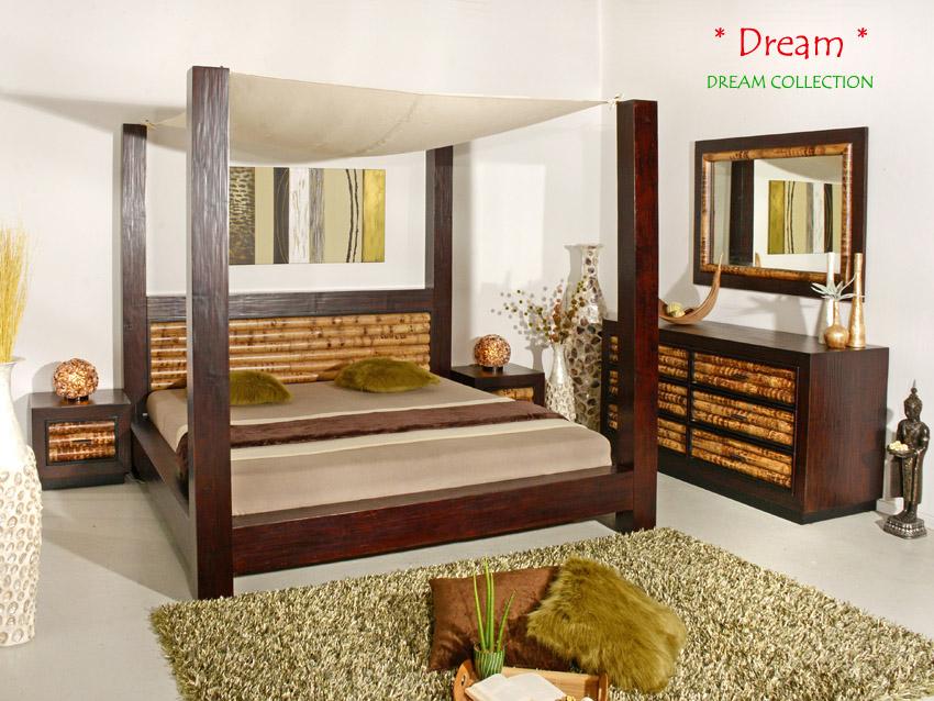 luxus bambusbett 200x200 himmelbett bambus holzbett designerbett boxspring bett ebay. Black Bedroom Furniture Sets. Home Design Ideas