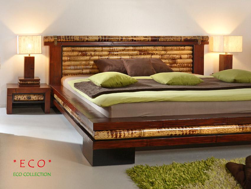 bambusbett 180x200 eco doppelbett holzbett futon bett designer natur bettrahmen ebay. Black Bedroom Furniture Sets. Home Design Ideas