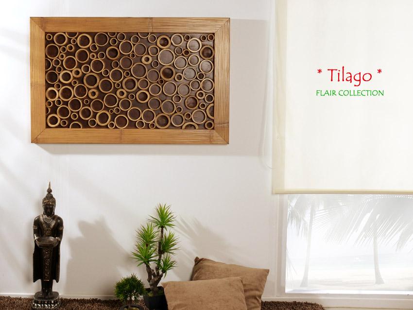 Bambus Wandbild Tilago Natur Wanddeko Wandverkleidung Wand