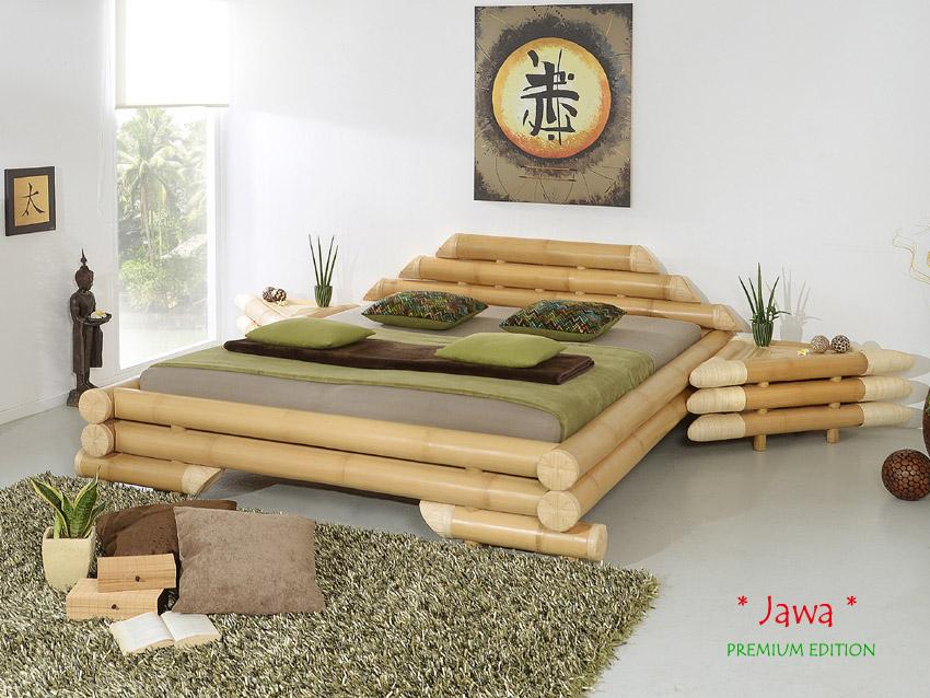 luxus bambusbett mit marken wasserbett dual 160 200 bambus bett holzbett urlaub ebay. Black Bedroom Furniture Sets. Home Design Ideas
