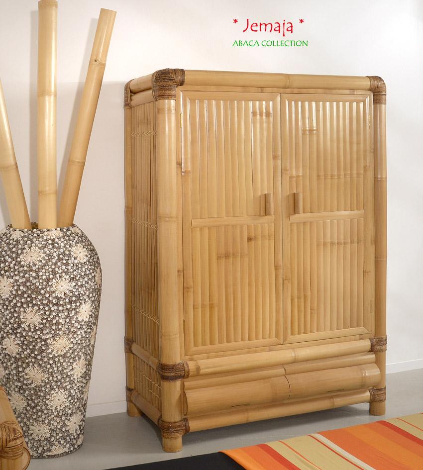 bambusschrank jemaja garderobenschrank kleiderschrank holzschrank schrank natur ebay. Black Bedroom Furniture Sets. Home Design Ideas