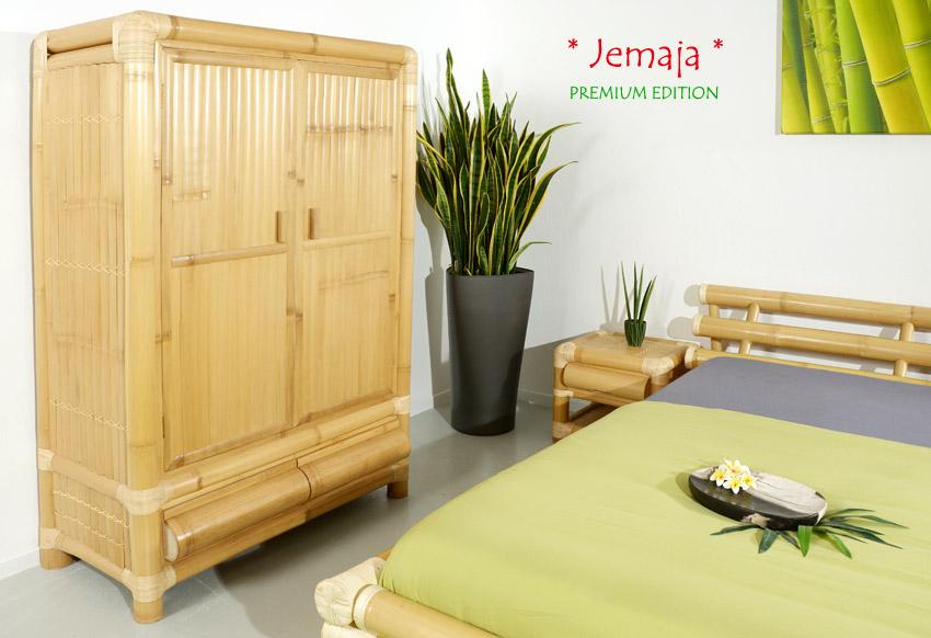 bambus kleiderschrank jemaja rattan schrank holzschrank. Black Bedroom Furniture Sets. Home Design Ideas