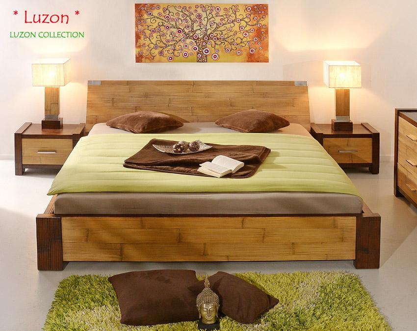 bambusbett 180x200 luzon natur braun doppelbett modern bettgestell klassisch neu ebay. Black Bedroom Furniture Sets. Home Design Ideas