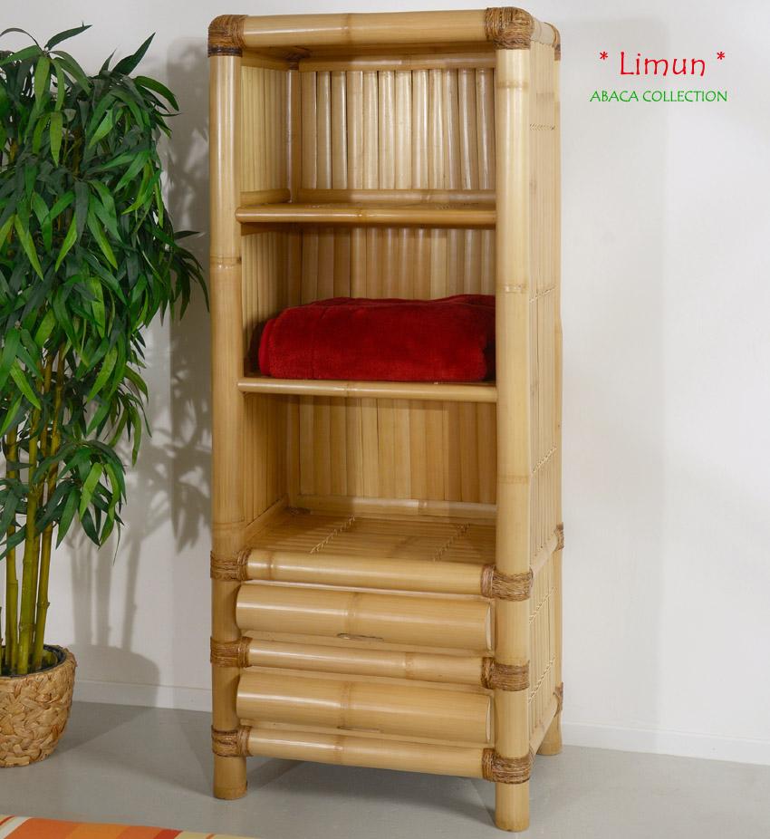 bambusregal limun abaca wandregal kleiderregal bambusm bel regal standregal holz ebay. Black Bedroom Furniture Sets. Home Design Ideas