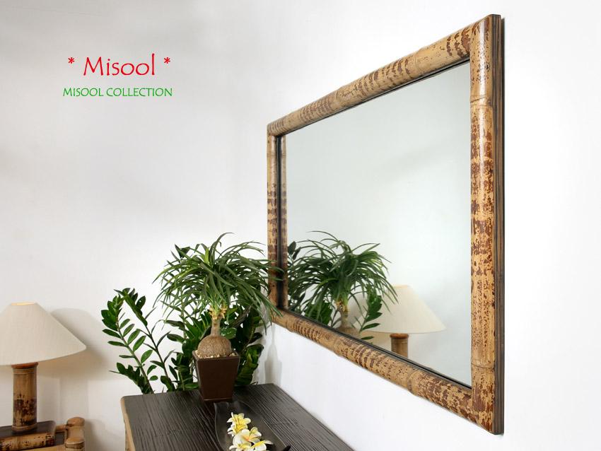 Bambusspiegel misool gro spiegel wandspiegel ankleide - Spiegel mit bambusrahmen ...