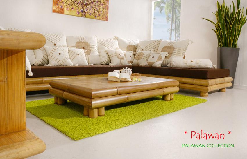 Bambus sofa palawan rechts sitzgarnitur ecksofa couch for Sofa asiatisch