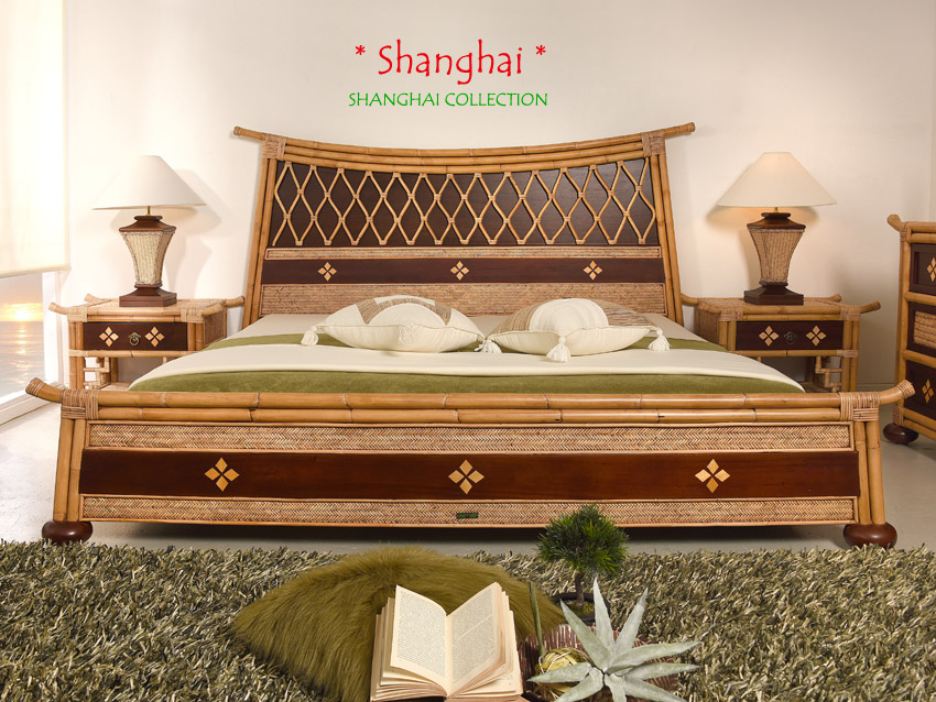bettrahmen 200x200 shanghai designer doppelbett bett rattan exklusiv holz bambus ebay. Black Bedroom Furniture Sets. Home Design Ideas