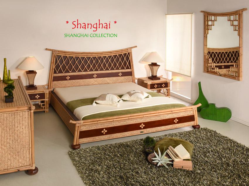 bettrahmen 180x200 shanghai designer doppelbett bett rattan exklusiv holz bambus. Black Bedroom Furniture Sets. Home Design Ideas