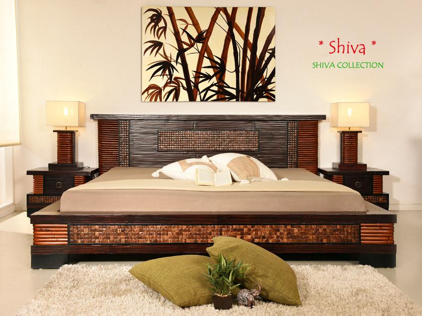 bambusbett 180x200 shiva doppelbett bambus bett rattan kokosnuss exklusiv holz ebay. Black Bedroom Furniture Sets. Home Design Ideas