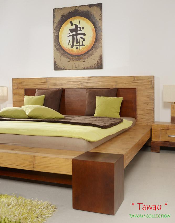 bambusbett 180x200 tawau doppelbett bettrahmen bettgestell. Black Bedroom Furniture Sets. Home Design Ideas