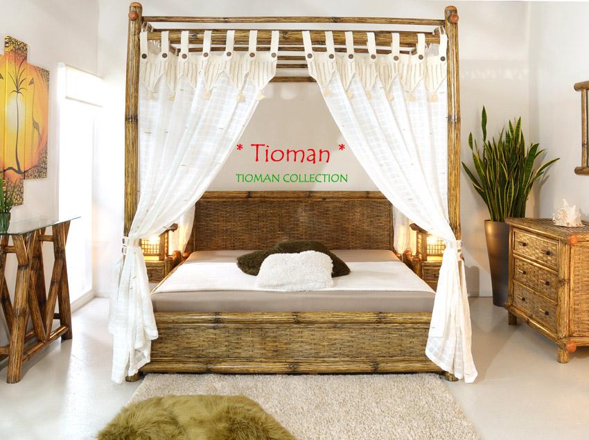 luxus bambusbett 140x200 himmelbett bambus holzbett designerbett boxspring bett ebay. Black Bedroom Furniture Sets. Home Design Ideas