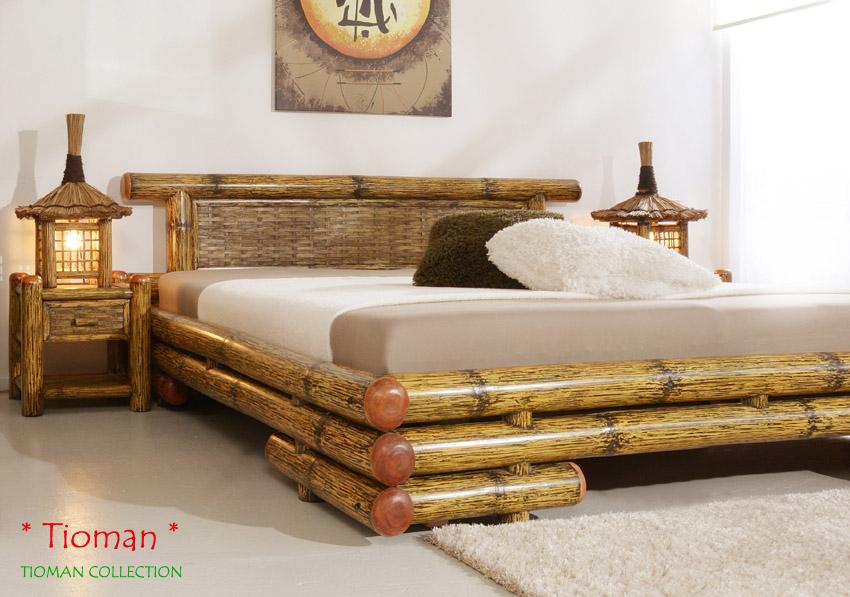 bambusbett 140x200 tioman holzbett bambus bettrahmen. Black Bedroom Furniture Sets. Home Design Ideas