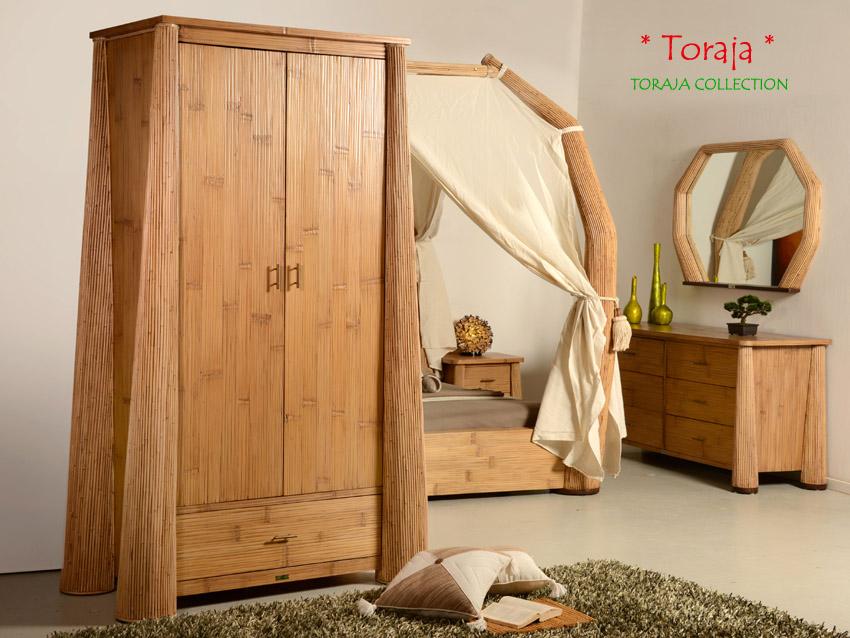 luxus himmelbett 200x200 toraja natur doppelbett bambus bett rattan exklusiv neu ebay. Black Bedroom Furniture Sets. Home Design Ideas