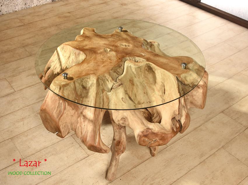 lazar couchtisch aus teak wurzelholz wohnzimmertisch. Black Bedroom Furniture Sets. Home Design Ideas