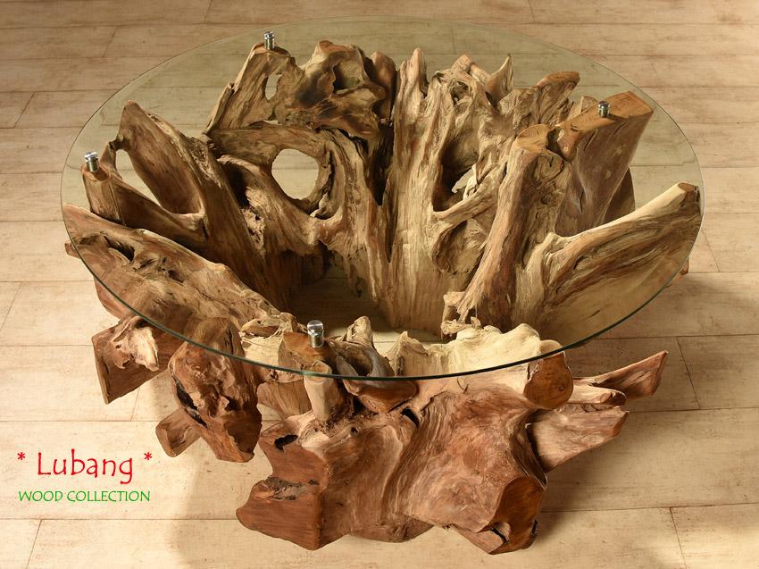 teak wurzelholz tisch lubang couchtisch wohnzimmertisch holz massivholz beistell. Black Bedroom Furniture Sets. Home Design Ideas